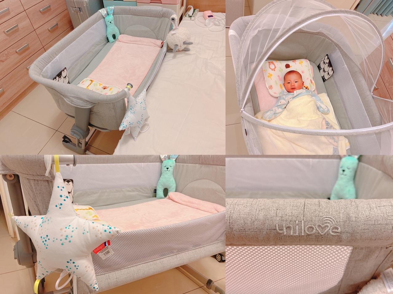 《育兒》新手媽咪的嬰兒床首選!幫助妳輕鬆育兒的輕美型unilove床邊床